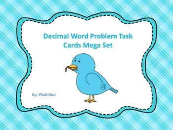 Decimal Word Problems Task Cards Mega Set