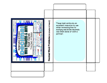 Decimal Word Problems Task Cards (Multiplication and Division)