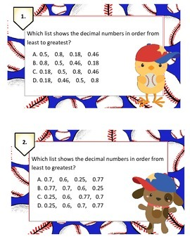 Decimal Word Problems Task Cards New Teks: 4.2A, 4.2B, 4.2F, 4.2H