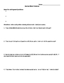 Decimal Word Problems notes and examples