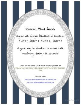Decimal Word Search