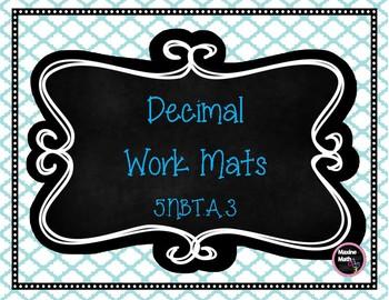 Decimal Work Mats