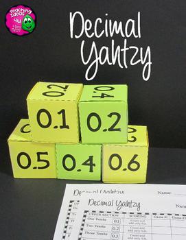 Decimal Yahtzy Dice Game Grades 4 - 5