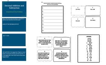 Decimal addition and subtraction BUNDLE