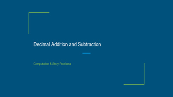 Decimal addition and subtraction powerpoint
