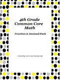 Decimal and Fraction Common Core Pack