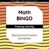 Decimal and Fraction Conversion BINGO Activity