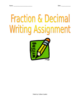 Decimal and Fraction Conversion Writing Assignment