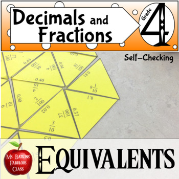 Decimal and Fraction Equivalents Math Center