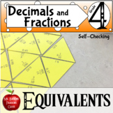 Fraction and Decimal Equivalents Math Center