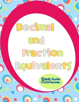 Decimal and Fraction Equivalents Puzzle