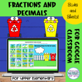 Decimal and Fraction Google™ Slides and Sheets