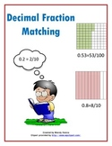 Decimal and Fraction Matching Cards