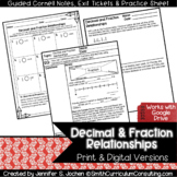 Decimal and Fraction Relationships Guided Cornell Notes |