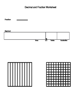 Decimal and Fraction Work Mats