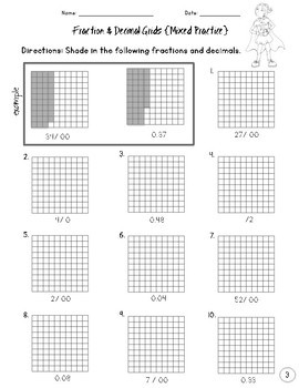 decimal and fractions worksheet activities grades 3 5 by power of ten math. Black Bedroom Furniture Sets. Home Design Ideas