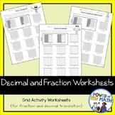 Decimal and Fractions Worksheet Activities {grades 3-5}