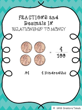 Decimal and Fractions using Money