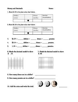 Decimal and Money Quiz