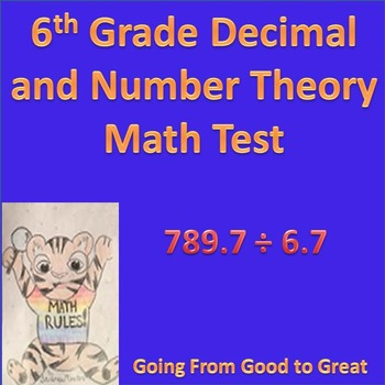 Decimal and Number Theory Math Test