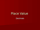 Decimal number place value power point