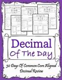 Decimal of The Day - 5th Grade Common Core Aligned