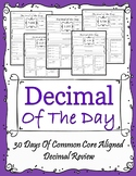 Decimal of The Day - 5th Grade Common Core Aligned