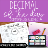 Decimal of the Day - Decimal Review *with Google Classroom™ Distance Learning