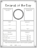 Decimal of the Day - Editable File