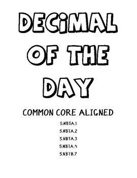 Decimal of the Day Template