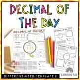 Decimal of the Day Templates | Tenths, hundredths, thousandths