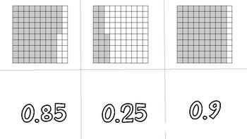 Decimal to Fraction Matching Game