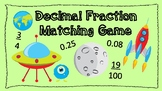 Decimal to Fraction Matching Game