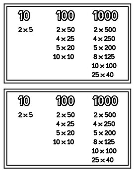 Decimal to Fraction Notes and Practice