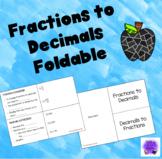 Decimal to Fraction foldable