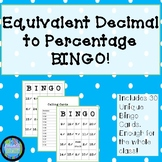 Decimal to Percentage Bingo