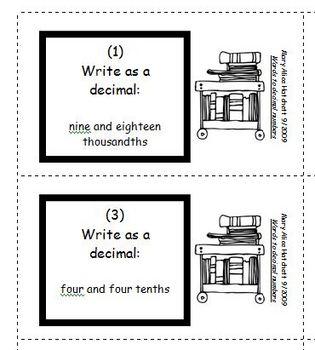 Decimal words to numbers - Pass Around
