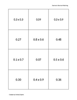 Decimal x Decimal Matching *Multi Use*