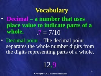 Common Core 4th - Decimals 1 - Introduction & Place Value