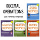 Decimal Place Value, Operations, Rounding, Conversion Worksheets Bundle