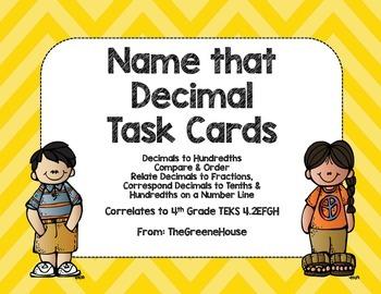 Name that Decimal! Task Cards
