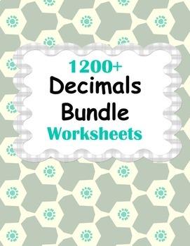 Decimals Worksheets Bundle