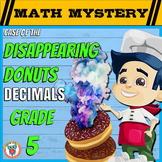 Decimals Distance Learning Math Mystery:  add, subtract, multiplying decimals ++