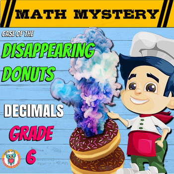 6th Grade Decimals Review Math Mystery: Add, Subtract, Multiply, Divide,+