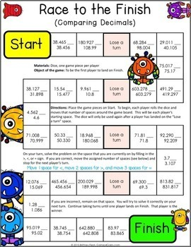 Slobbery image with 5th grade printable math games