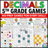 5th Grade Decimal Games for 5.NBT.3 and 5.NBT.4