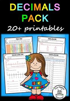 Decimals - 20+ printables