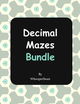 Decimals Mazes Bundle