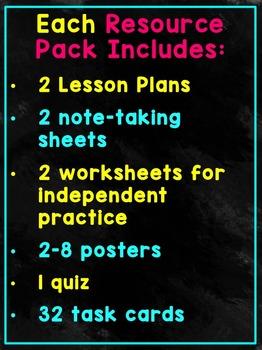 Decimals Bundle - Lesson Plans, Task Cards, and Quizzes