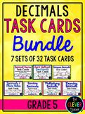 Decimals Task Card Bundle